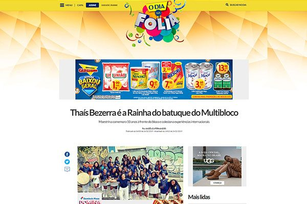 thumb-na-midia-jornal-o-dia-thais-bezerra-e-a-rainha-do-batuque-do-multibloco